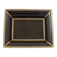 Halcyon Days Antler Trellis Black Trinket Tray