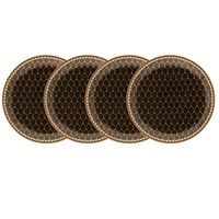 Halcyon Days Antler Trellis Black Coaster, Set of 4