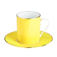 Haviland & Parlon Lexington Citron Tall Cup & Saucer