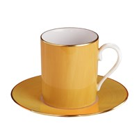 Haviland & Parlon Lexington Yellow Sud Tall Cup & Saucer