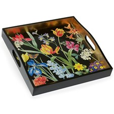 Redouté Floral Lacquered Tray