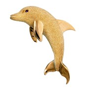 18k Yellow Gold Dolphin Pin