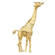18k Gold Giraffe Pin