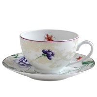Bernardaud Favorita Tea Cup & Saucer