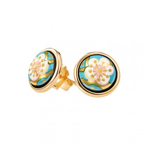 Freywille Vincent van Gogh L'Amandier Turquoise Cabochon Stud Earrings