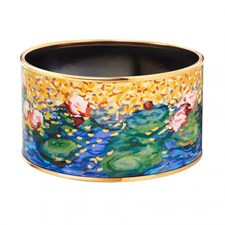 Freywille Claude Monet Orangerie Bordered Diva Bangle, Medium
