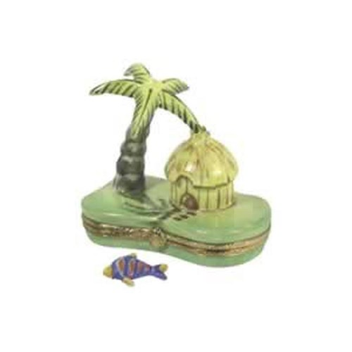 Cabana with Palm Tree Limoges Box