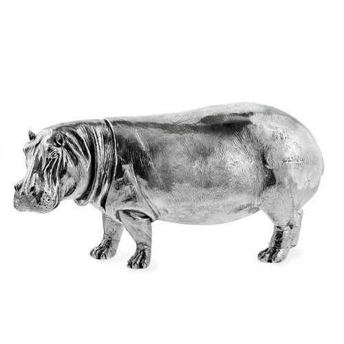 Sterling Silver Hippos