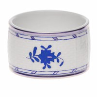 Herend Chinese Bouquet Blue Napkin Ring