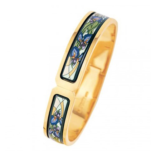 Freywille Claude Monet Goldplated Iris Ballerina Clasp Bangle
