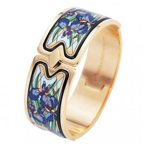 Freywille Claude Monet Goldplated Iris Royal Clasp Bangle