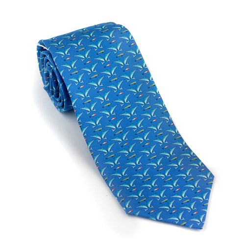 Blue Anglers Silk Tie