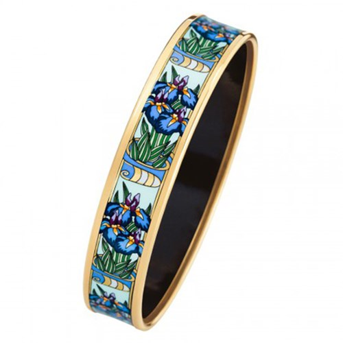Freywille Claude Monet Goldplated Iris Bordered Miss Bangle