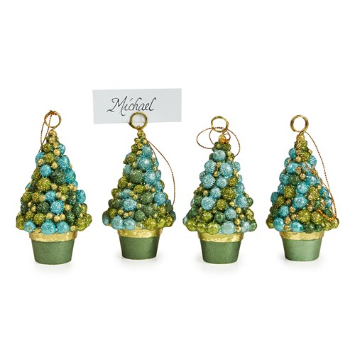 Evergreen Bolsie Place Card Holder, Set of 4