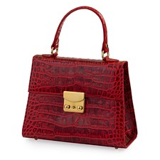 Large Faux Lizard Leather Bag