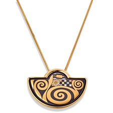 Freywille Gustav Klimt Block-Bauer Small Halfmoon Necklace