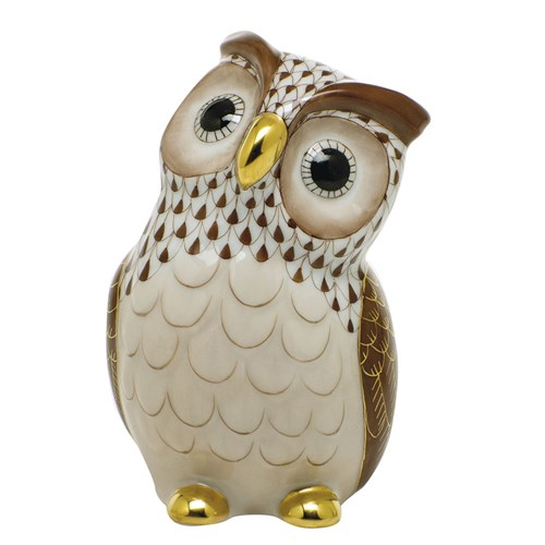 Herend Owl, Chocolate
