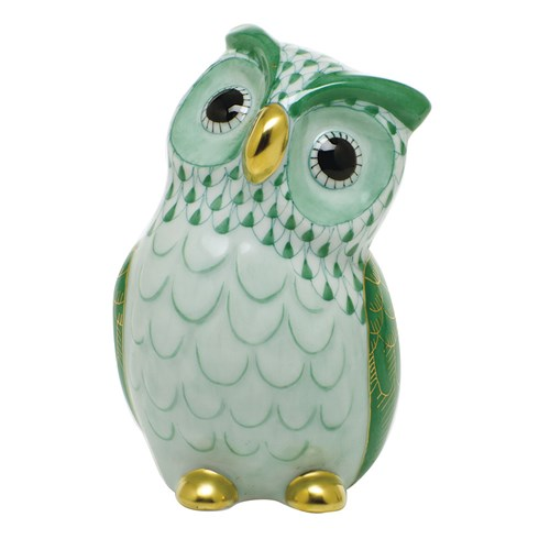 Herend Owl, Green