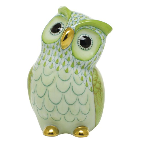 Herend Owl, Key Lime