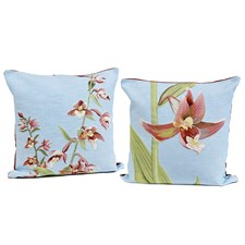 Orchid Tapestry Pillows, Blue