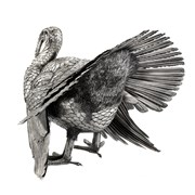 Large Sterling Silver Turkey