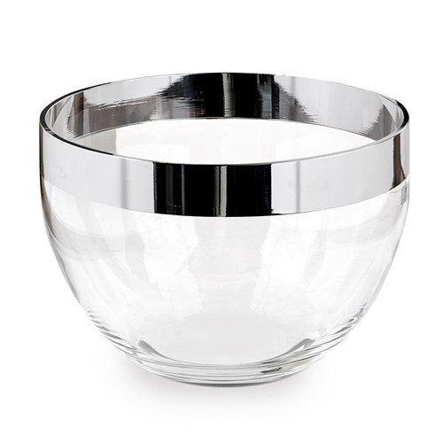 Silverplated Crystal Salad Bowl