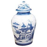 Mottahedeh Blue Canton Large Ginger Jar