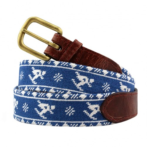 AV463 skier fairisle needlepoint belt size 28
