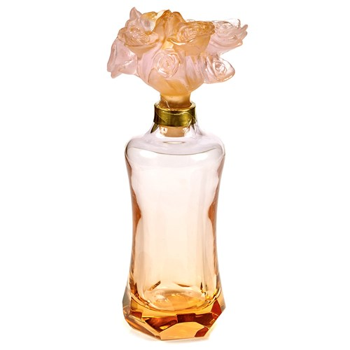 Daum Crystal Prestige Rose Perfume Bottle