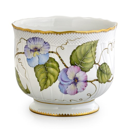 Anna Weatherley Morning Glory Pansy Cachepot
