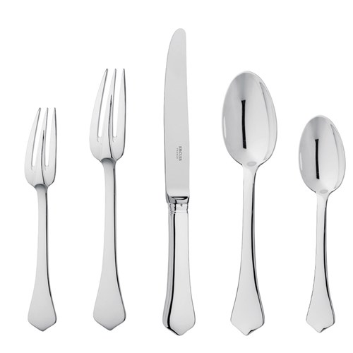 Ercuis Brantome Stainless Steel 5-Piece Place Setting