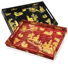Xanadu Chinoiserie Lacquered Tray