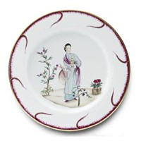 Pinto Paris Chinoiserie Buffet Plate #4