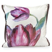 Handpainted Purple Flowers Silk Pillows