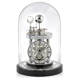 Astrolabium Nickel Clock II, Piano Black Finish