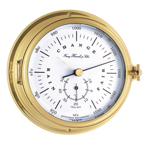 Columbia Brass Ship's Barometer