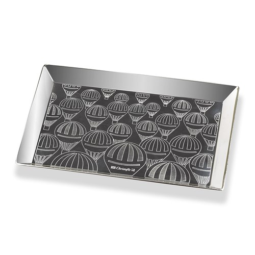 Christofle Montgolfiere Silverplated Business Card Tray