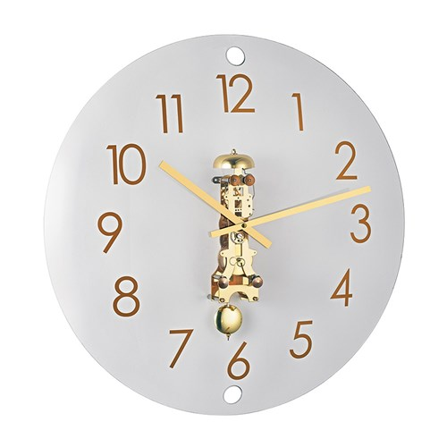 Evelyn Wall Clock, Brass