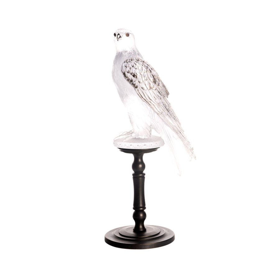 Daum Crystal Gyrfalcon Limited Edition Bird Sculptures Daum Crystal Crystal Glassware Tabletop Scullyandscully Com
