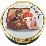 Halcyon Days A Dog is a Bundle of Pure Love Enamel Box