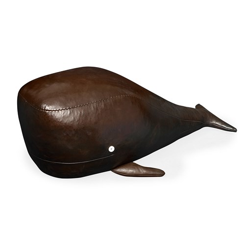 Leather Whale Footstool