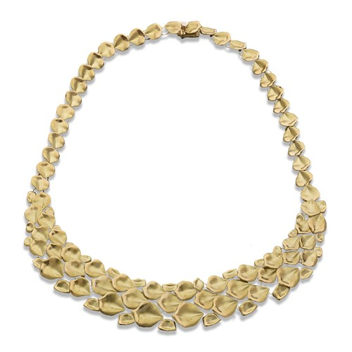 18k Gold Flower Petal Necklace