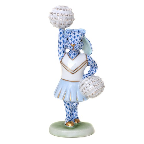 Herend Cheerleader Bunny, Blue