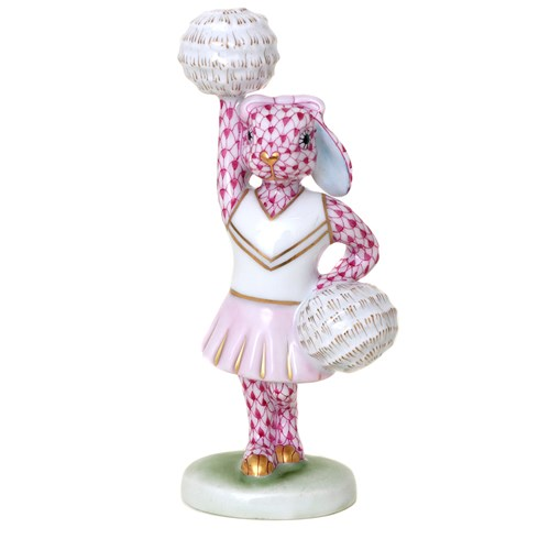 Herend Cheerleader Bunny, Raspberry