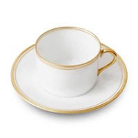 Double Filet Or Tea Cup & Saucer