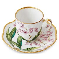 Histoiries D'Orchidees Coffee Cup and Saucer