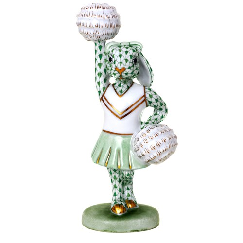 Herend Cheerleader Bunny, Forest Green