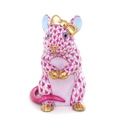 Herend Mouse with Bow