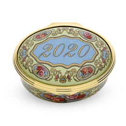 Halcyon Days 2020 A Year to Remember Enamel Box