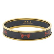 Halcyon Days Red Bow on Navy Bangle